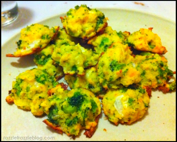 Cheesy Broccoli Bites - Razzle Frazzle