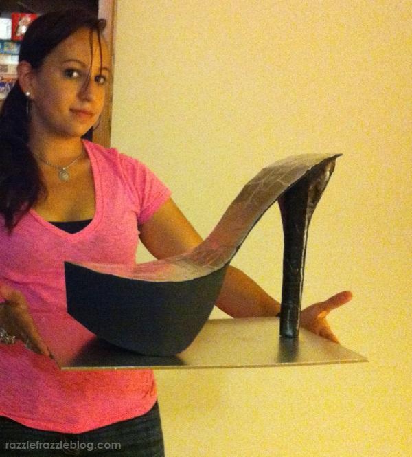 DIY Shoe Cake - Razzle Frazzle (1)