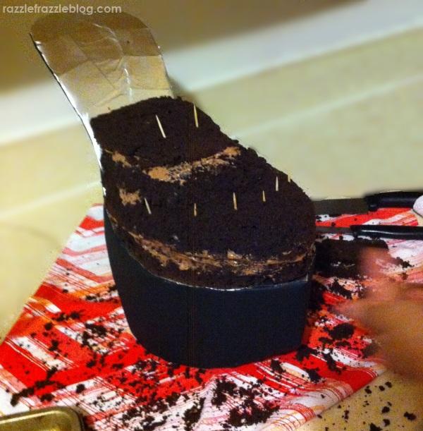 DIY Shoe Cake - Razzle Frazzle (2)