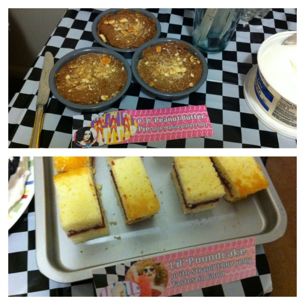 """P-P-P-Peanut Butter"" pies with Manila [Luzon] wafer crust; ""Lil' Poundcakes"" with strawberry jelly filling"