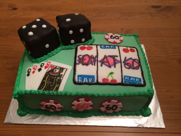 Casino-themed 60th birthday cake by Taylor Made Sweets and Treats