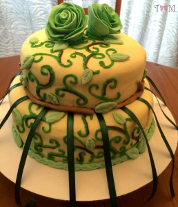 Nature-themed bridal shower cake by Taylor Made Sweets and Treats