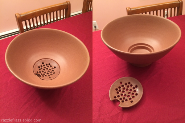 Popcorn Bowl with Kernel Sifter from UncommonGoods.com (RazzleFrazzle)