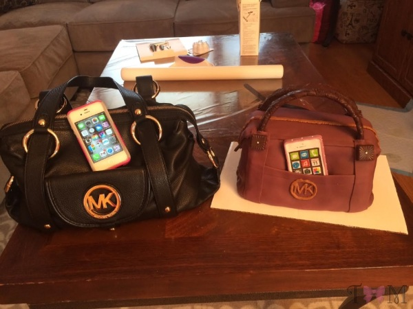 Michael Kors purse cake by Taylor Made Sweets and Treats