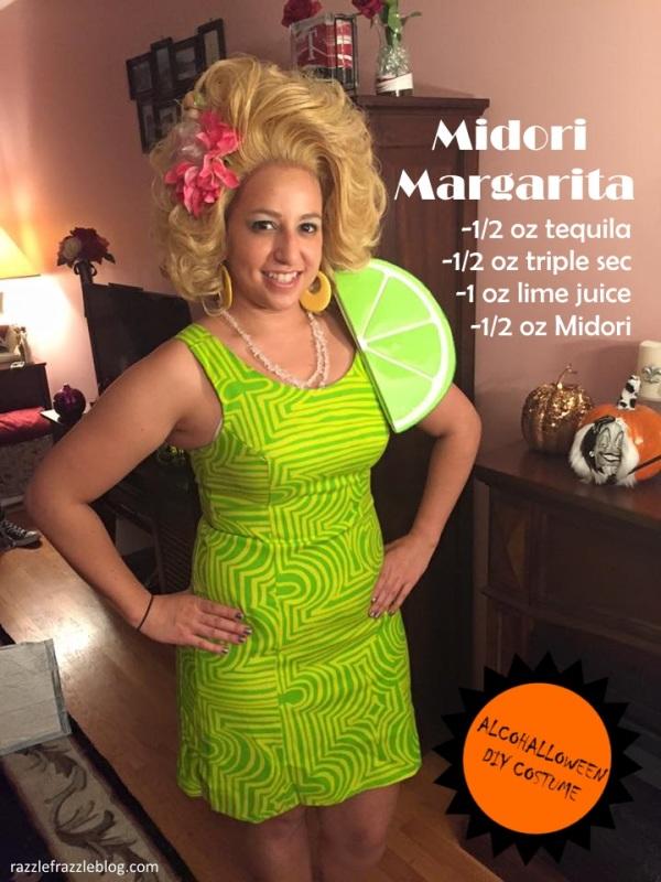 Midori Margarita - Alcohalloween DIY costume (Razzle Frazzle)