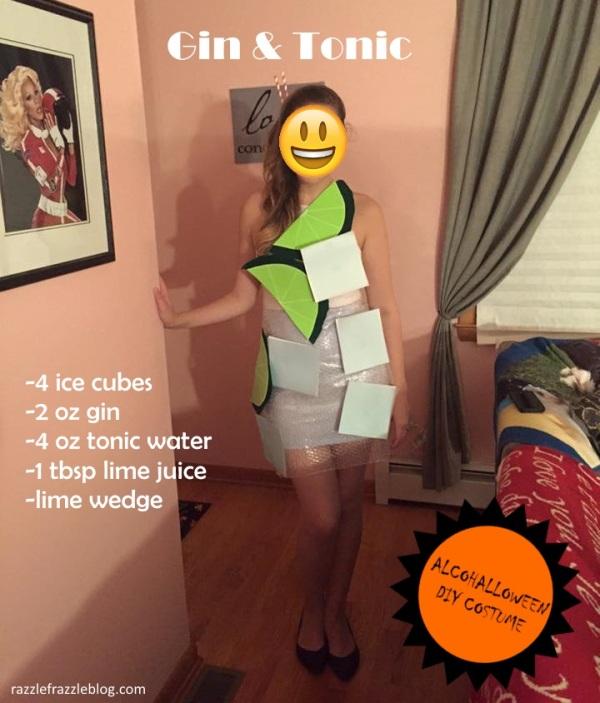Gin & Tonic - Alcohalloween DIY costume (Razzle Frazzle)