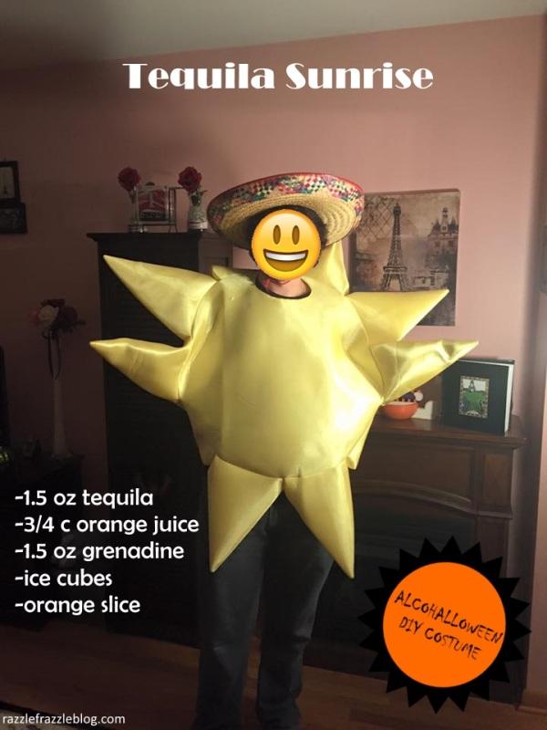 Tequila Sunrise - Alcohalloween DIY costume (Razzle Frazzle)