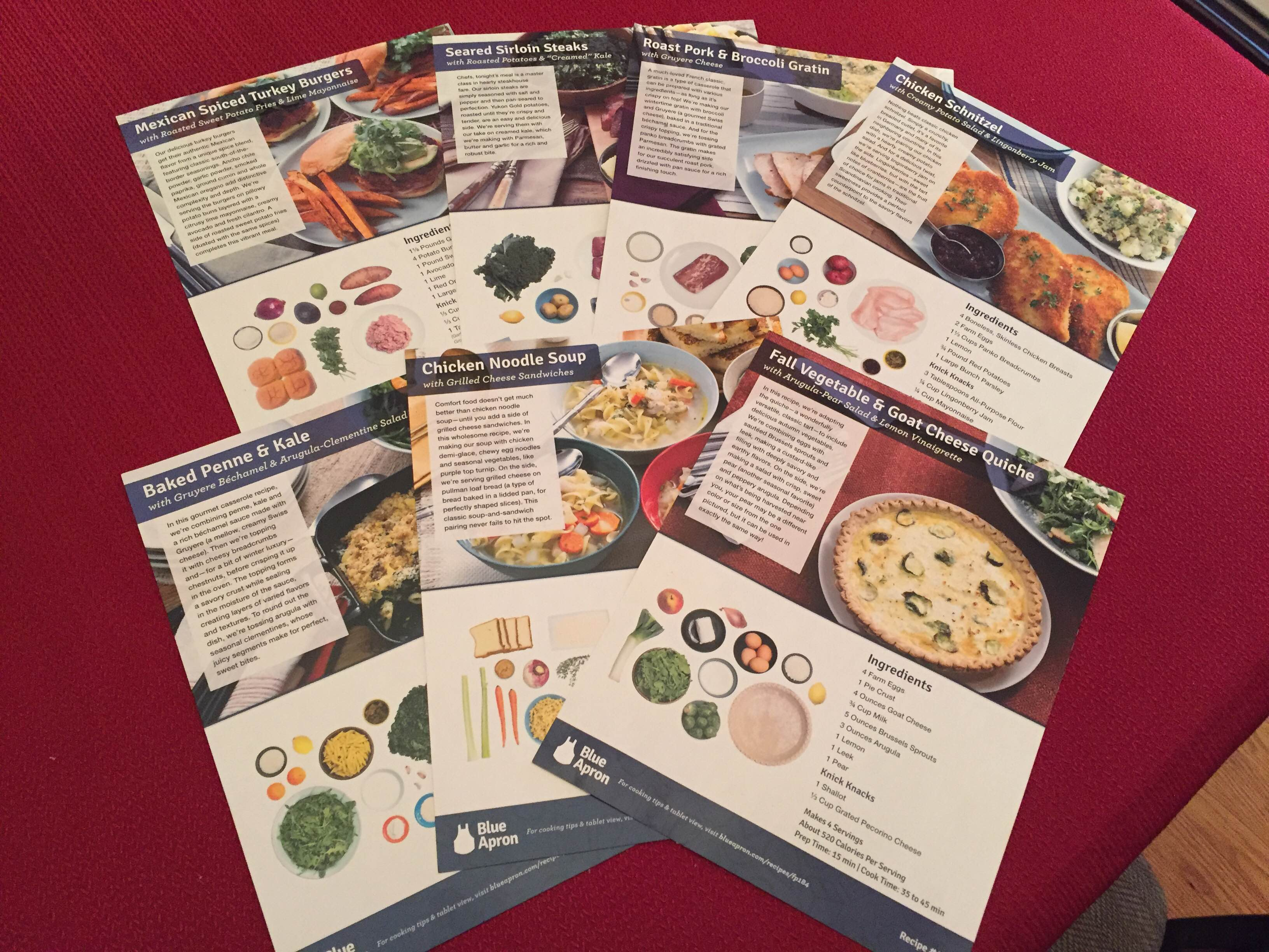 Blue apron blog