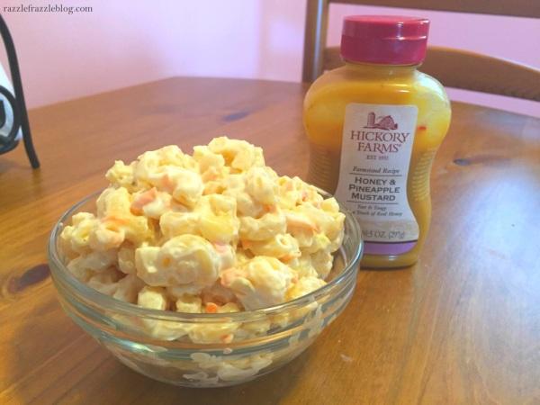 Sweet & tangy macaroni salad - RazzleFrazzleBlog.com